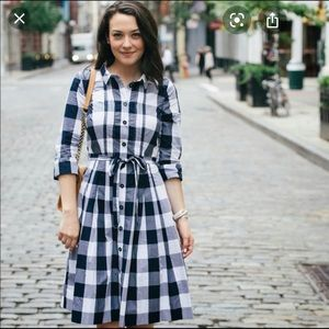 Boden gingham shirt dress